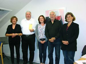 v.l.: Karin Voss, Horst Möller, Larissa Stettinger, Gerd Kuhn, Lolita Panzer